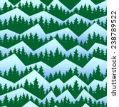 fir forest in winter seamless... | Shutterstock .eps vector #238789522