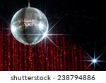 disco ball with stars in... | Shutterstock . vector #238794886