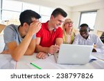 group of students studying... | Shutterstock . vector #238797826