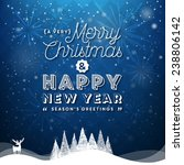 christmas and new year... | Shutterstock .eps vector #238806142