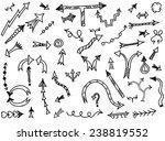 hand drawn simple arrows set... | Shutterstock .eps vector #238819552