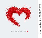 happy valentine day greeting...   Shutterstock .eps vector #238829272