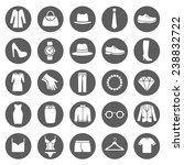 set of clothes icons. clothing... | Shutterstock .eps vector #238832722