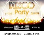 disco party flyer template  ... | Shutterstock .eps vector #238835446