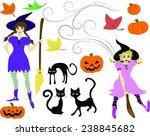 halloween clip art   cartoon  ... | Shutterstock .eps vector #238845682