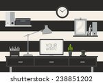 set of flat vector design... | Shutterstock .eps vector #238851202