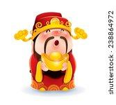 chinese god of wealth | Shutterstock .eps vector #238864972