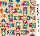 russian traditional handmade... | Shutterstock .eps vector #238873102