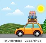 cross country hippy travel... | Shutterstock .eps vector #238875436