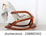 rocking chair covered with... | Shutterstock . vector #238885342