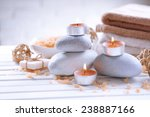 composition of spa treatment on ... | Shutterstock . vector #238887166