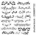 calligraphic design elements... | Shutterstock .eps vector #238889722