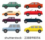cars icon set in flat colors... | Shutterstock .eps vector #238898056