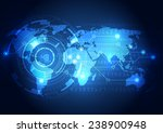abstract global technology... | Shutterstock .eps vector #238900948