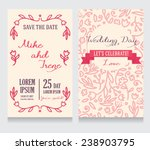 beautiful floral wedding... | Shutterstock .eps vector #238903795