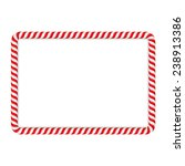 frame made of candy cane ... | Shutterstock .eps vector #238913386