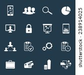 16 business icons set 2 vector...