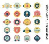 space badge banner flat design...