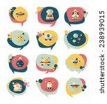 space speech bubble flat design ...   Shutterstock .eps vector #238939015