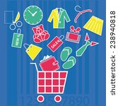 set of shopping icons   Shutterstock .eps vector #238940818