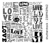 hand drawn love doodles | Shutterstock .eps vector #238943962