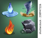 four elements for games. vector ...
