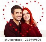 beautiful loving couple kissing ... | Shutterstock . vector #238949506