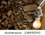 Firewood Stock In The Shed