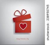 valentine's day concept... | Shutterstock . vector #238950745