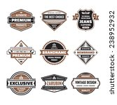 vector badges collection.... | Shutterstock .eps vector #238952932