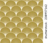 seamless gold colored art deco... | Shutterstock .eps vector #238957162