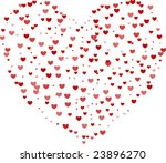 large heart made of hearts... | Shutterstock .eps vector #23896270