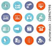 media communication icons flat...   Shutterstock .eps vector #238967998