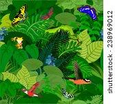 vector amazon jungle seamless... | Shutterstock .eps vector #238969012