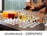 bartender is pouring sparkling... | Shutterstock . vector #238969402