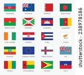 vector set of flags with... | Shutterstock .eps vector #238978186