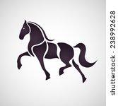 Stock vector horse symbol vector 238992628