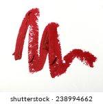 red color lipstick stroke on... | Shutterstock . vector #238994662