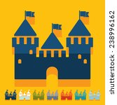 flat design  fortress | Shutterstock .eps vector #238996162