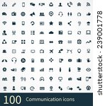 communication icons vector set | Shutterstock .eps vector #239001778