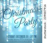 merry christmas invitation or... | Shutterstock .eps vector #239007916