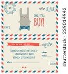 baby shower invitation ... | Shutterstock .eps vector #239014942