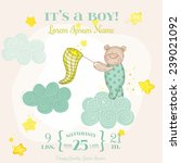 baby shower or arrival card... | Shutterstock .eps vector #239021092