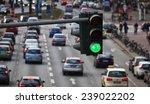 Green Traffic Light  Big City...
