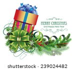 christmas present with bow ...   Shutterstock .eps vector #239024482