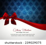 christmas greeting card | Shutterstock .eps vector #239029075