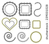chain in different shapes ... | Shutterstock .eps vector #239031028
