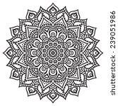 mandala. vintage decorative... | Shutterstock .eps vector #239051986