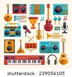 set of vector modern flat...   Shutterstock .eps vector #239056105