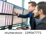 businessmen trading stocks.... | Shutterstock . vector #239067772
